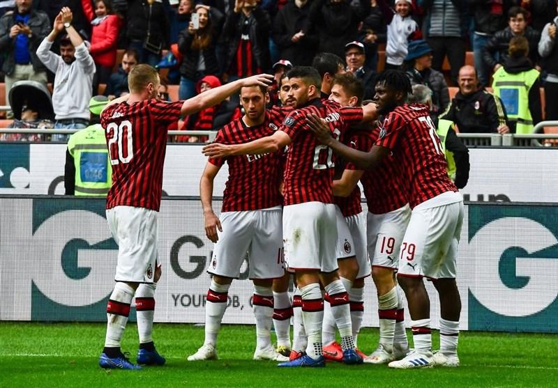 فوتبال جهان میلان با پیروزی آسان در کورس سهمیه لیگ قهرمانان باقی ماند