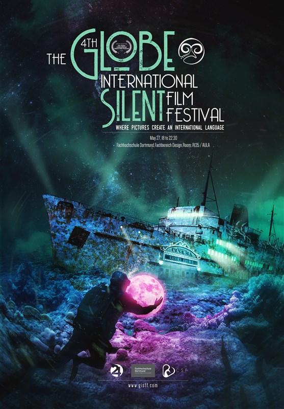 انتشار پوستر رسمی چهارمین دوره جشنواره بینالمللی فیلم بیکلام گلوب