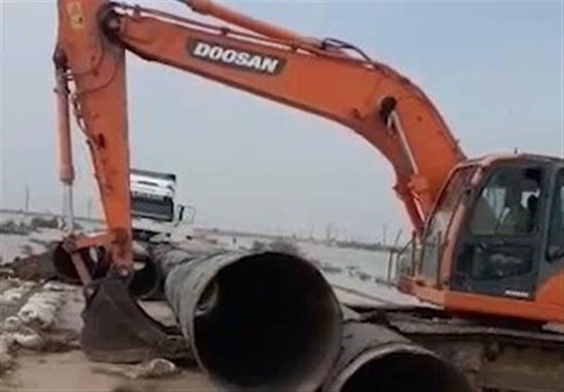تلاش گروه تفحص شهدا در عملیات بازگشایی جاده بستان+فیلم
