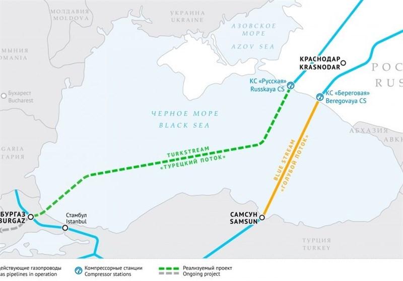 """اتمام عملیات بخش صربستان خط لوله """"جریان ترکیه"""" تا چند ماه دیگر"""