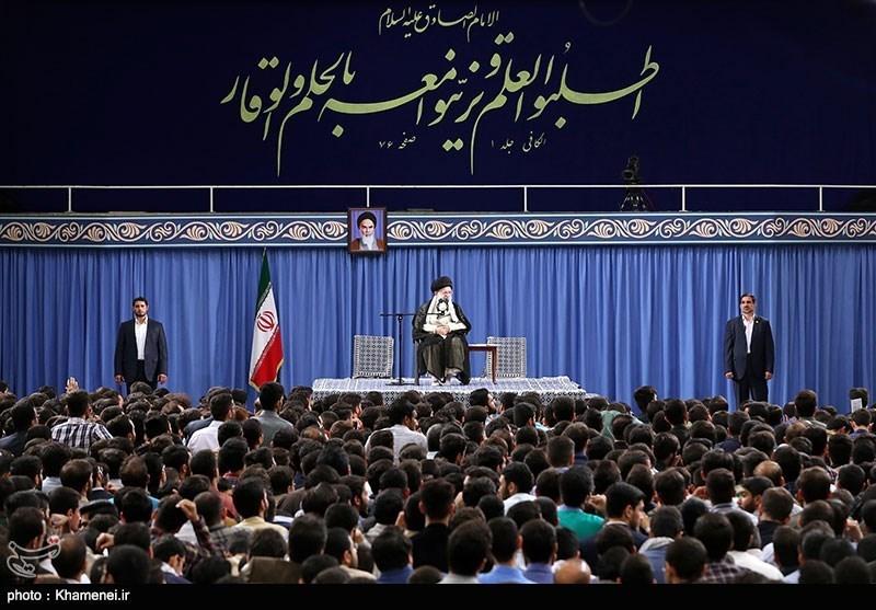 شعری حماسی که در دیدار دانشجویان با رهبر انقلاب خوانده شد
