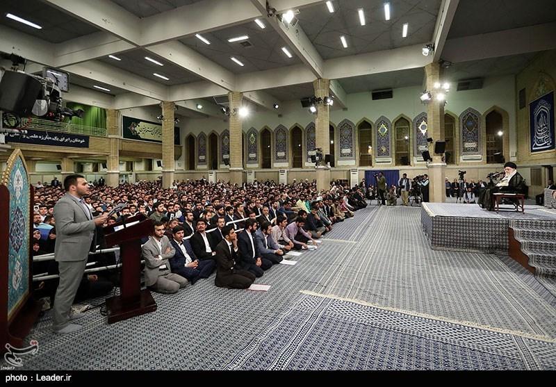گزارش تسنیم | دانشجویان در دیدار با امام خامنهای چه گفتند؟