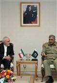 دیدار ظریف با فرمانده ارتش پاکستان