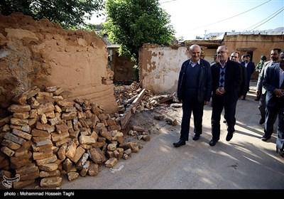 بازدید رئیس و جمعی از اعضای شورای شهر مشهد به همراه مدیران شهری از مناطق سیل زده شهرستان کلات