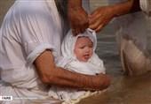 مراسم تعمید «مَنْدائیان» درساحل کارون