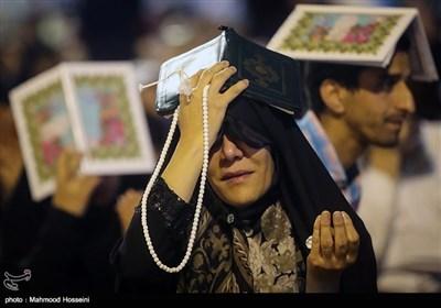 مراسم احیای شب قدر مصادف با شب نوزدهم ماه مبارک رمضان در مصلی امام خمینی (ره)