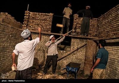 ساخت و ترمیم منازل سیل زده روستای سید ظاهرتوسط گروه جهادی شهدای مدافع حرم
