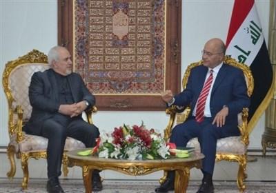 جزئیات دیدار ظریف و صالح/ دعوت از رئیس جمهور عراق برای سفر به تهران