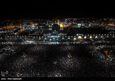Worshippers Mark Laylat Al-Qadr at Imam Reza Shrine in Mashhad