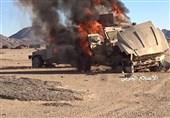"""انهدام 4 خودروی زرهی متجاوزان در عملیات ارتش یمن در""""عسیر"""""""