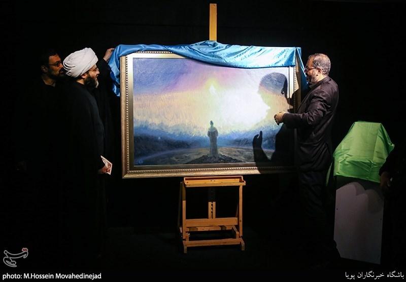 رونمایی از تابلوی نقاشی «شب قدر» و افتتاح نمایشگاه «فریاد سنگ» به روایت تصویر