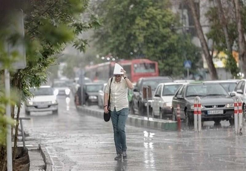 پیش بینی باران و صاعقه 5 روزه در 15 استان/احتمال بارش تگرگ در برخی مناطق