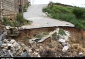 رانش زمین در روستای عرب بجنورد به روایت تصاویر