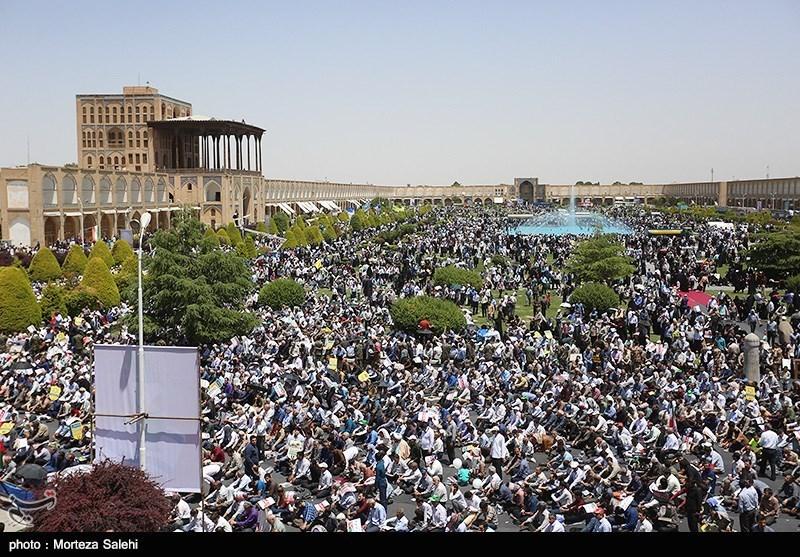 نه به معامله قرن  جلوههای باشکوه حضور مردم اصفهان در راهپیمایی روز قدس + تصاویر