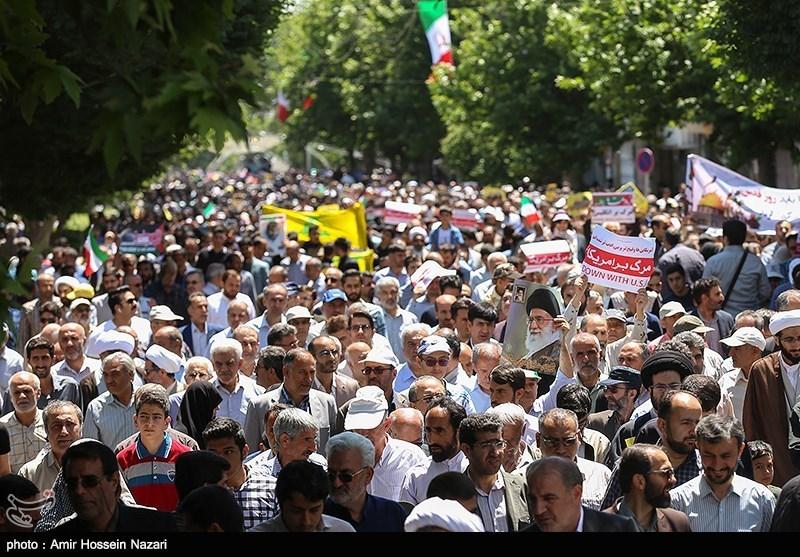 راهپیمایی روز جهانی قدس در قزوین