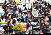 حضور مسئولین کشوری و لشکری در راهپیمایی روز جهانی قدس + تصاویر