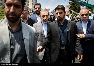 حضور علیاکبر ولایتی در راهپیمایی روز جهانی قدس - تهران