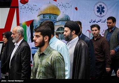 حضور حجتالاسلام سیدمیثم خامنهای در راهپیمایی روز جهانی قدس - تهران