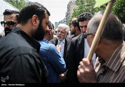 حضور محمدرضا عارف در راهپیمایی روز جهانی قدس - تهران