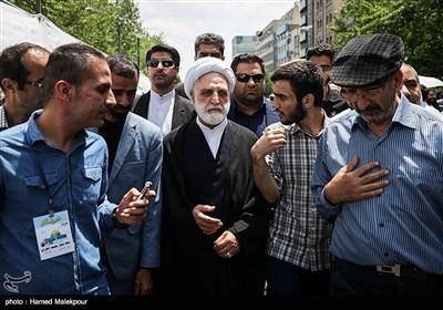 حضور غلامحسین محسنی اژهای معاون اول قوه قضائیه در راهپیمایی روز جهانی قدس - تهران
