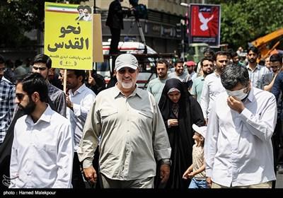 حضور سردار محمد پاکپور فرمانده نیروی زمینی سپاه در راهپیمایی روز جهانی قدس - تهران