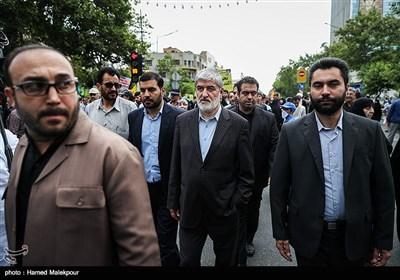 حضور علی مطهری در راهپیمایی روز جهانی قدس - تهران
