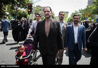 حضور امیر علیرضا صباحیفرد فرمانده نیروی پدافند هوایی ارتش در راهپیمایی روز جهانی قدس - تهران