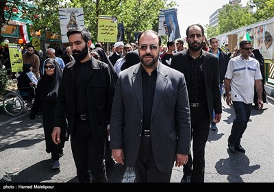 حسینعلی امیری معاون پارلمانی رئیس جمهور در راهپیمایی روز جهانی قدس - تهران