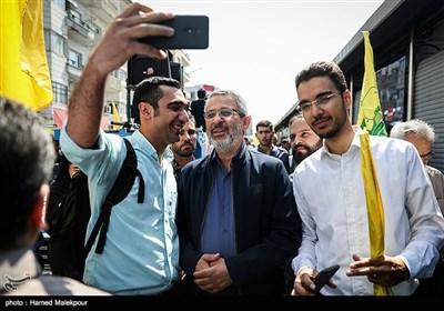 حضور سردار غلامحسین غیبپرور رئیس سازمان بسیج مستضعفین در راهپیمایی روز جهانی قدس - تهران