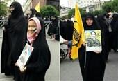 حضور فعال خانواده شهدا و رزمندگان فاطمیون در روز قدس+تصاویر