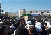 پیکر امام جمعه فقید کازرون با حضور پرشور مردم تشییع شد