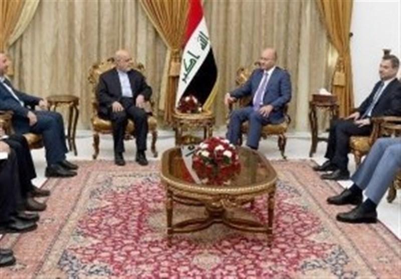 السفیر الایرانی فی العراق یلتقی برهم صالح..التأکید على أهمیة تعزیز العلاقات الثنائیة