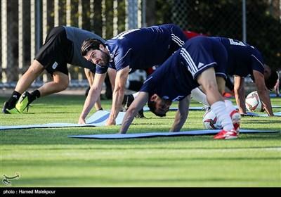 کریم انصاریفرد در تمرین تیم ملی فوتبال ایران