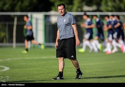 اولین تمرین تیم ملی فوتبال ایران به سرمربیگری مارک ویلموتس