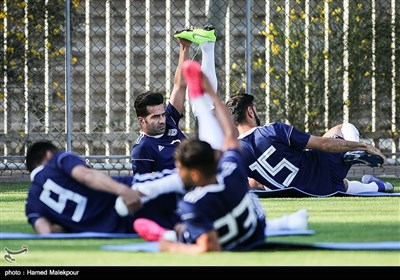 مسعود شجاعی در تمرین تیم ملی فوتبال ایران