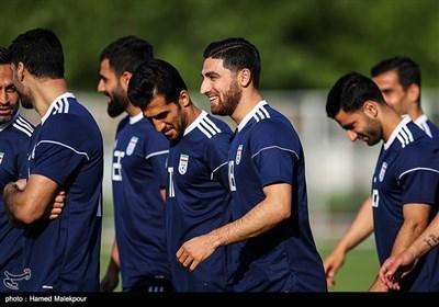 علیرضا جهانبخش در تمرین تیم ملی فوتبال ایران