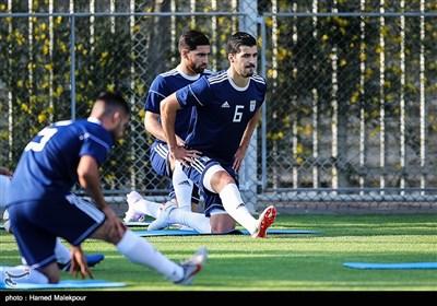 سعید عزتاللهی در تمرین تیم ملی فوتبال ایران