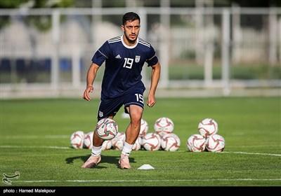 سیدمجید حسینی در تمرین تیم ملی فوتبال ایران