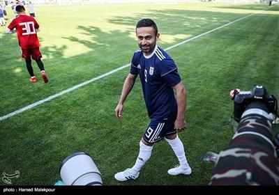 امید ابراهیمی در تمرین تیم ملی فوتبال ایران