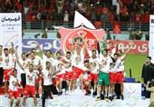 پرسپولیسیها کاپ قهرمانی جام حذفی را بالای سر بردند