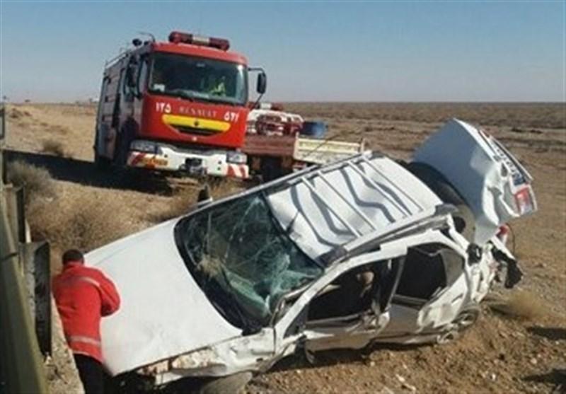 بوشهر| 5 نفردر واژگونی سمند در محور دشتی کشته شدند