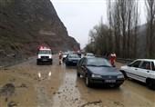 محور هراز تا اطلاع بعدی مسدود شد/ باران و برف در جادههای 20 استان