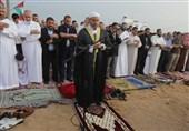 """نماز عید سعید فطر در مرزهای غزه؛ """"الحیه"""": دشمن صهیونیستی هیچ جایی در فلسطین ندارد"""