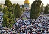 نماز با شکوه عید سعید فطر در مسجدالأقصی + عکس