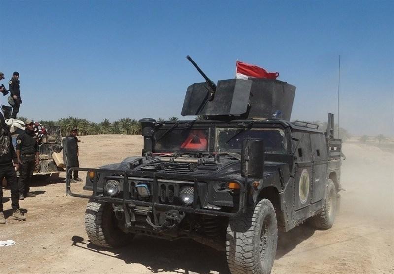 انهدام خودروی بمبگذاری شده داعش در عملیات نیروهای عراقی