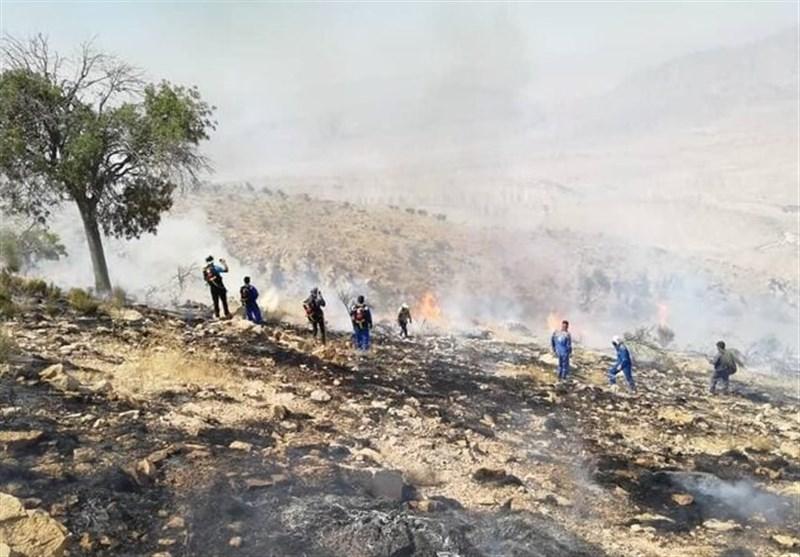 گسترش آتشسوزی از ارتفاعات چگنی به کوهدشت؛ حریق جنگلهای «داوود رشید» مهار شد