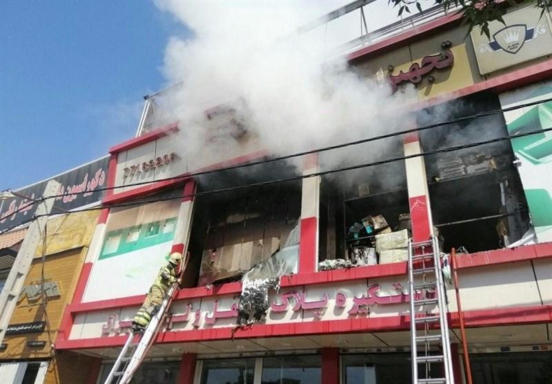 تهران  انبار بزرگ ابزار طعمه حریق گسترده شد + فیلم و تصاویر