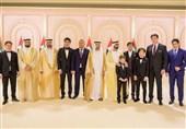 شرکت خانواده میرضیایف در مراسم عروسی پسران امیر دوبی