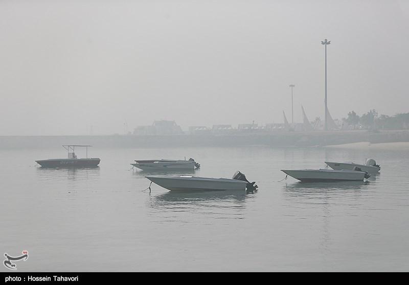 مه گرفتگی در جزیره کیش