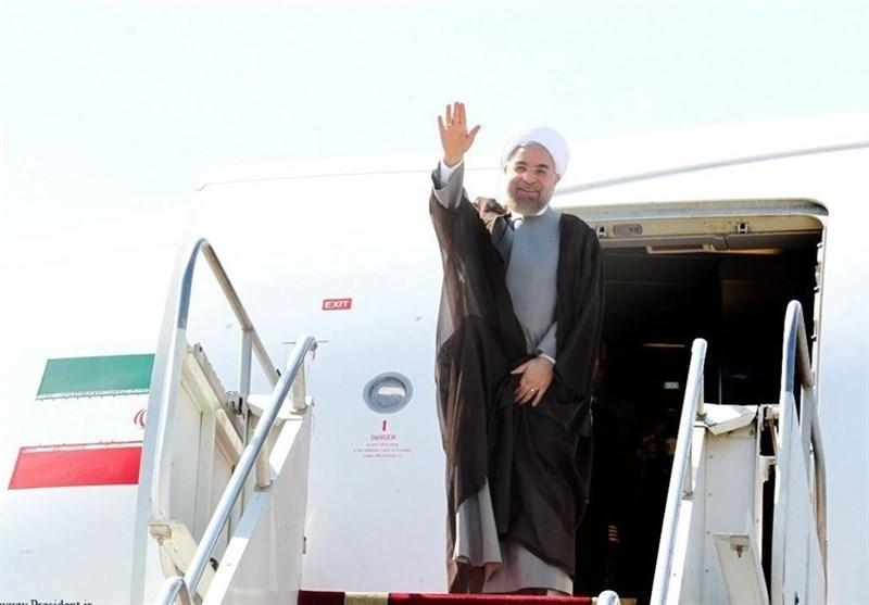 رئیس جمهور وارد یزد شد / روحانی در میدان امیرچقماق با مردم سخن میگوید